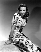 Flowered Dress Framed Prints - Barbara Stanwyck By Hurrell, 1940 Framed Print by Everett
