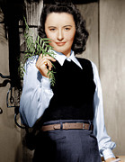 Sweater Vest Framed Prints - Barbara Stanwyck, Ca. 1947 Framed Print by Everett