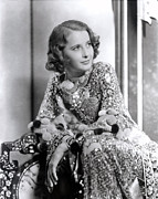 Embellished Framed Prints - Barbara Stanwyck, Late 1930s Framed Print by Everett