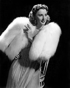 Fur Stole Prints - Barbara Stanwyck, Paramount Pictures Print by Everett