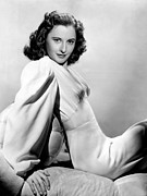 Cushion Metal Prints - Barbara Stanwyck, Warner Brothers, 3746 Metal Print by Everett
