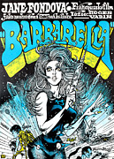 1968 Movies Posters - Barbarella, Jane Fonda, 1968 Poster by Everett
