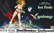 1960s Poster Art Posters - Barbarella, Jane Fonda On Poster Art Poster by Everett