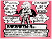 1960s Poster Art Posters - Barbarella, Jane Fonda On Uk Poster Poster by Everett