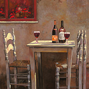 Red Flowers Art - Barbaresco by Guido Borelli