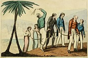 Bloomers Posters - Barbary Pirates Taking Their Chained Poster by Everett