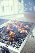 Barbecue Photos - Barbecuing Meat by David Munns