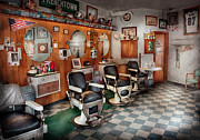 Barber Shop Posters - Barber - Frenchtown Barbers  Poster by Mike Savad