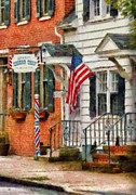 Flag Framed Prints - Barber - Kellers Barber Shop Framed Print by Mike Savad