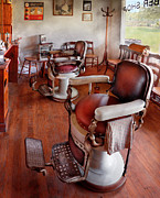 Barber Shop Prints - Barber - Please have a seat Print by Mike Savad