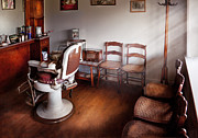 Barbershop Prints - Barber - Ready for an Audience Print by Mike Savad