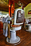 Brown Clipper Framed Prints - Barber - Barber Chair Framed Print by Paul Ward