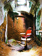 Philadelphia Photographs Prints - Barber Cell Eastern State Penitentiary  Print by Rebecca Korpita