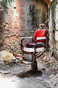 Hair Cutters Art - Barber Chair by Paul Ward