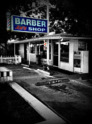 Slash Metal Prints - Barber Joes Shop Metal Print by Jose Luis Meza