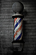 Below Framed Prints - Barber Pole Blues  Framed Print by Jerry Cordeiro