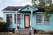 Barber Shop Prints - Barber Shop in New Olreans Ninth Ward Print by Carol M Highsmith