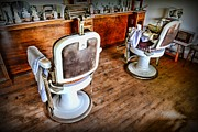 Vintage Barber Prints - Barber - The Barber Shop 2 Print by Paul Ward