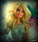 Manipulation Digital Art - Barbie Bubbles in HDR by Melissa Wyatt