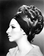 Headband Metal Prints - Barbra Streisand, Portrait Metal Print by Everett