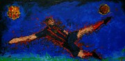 Soccer Paintings - Barca by Pete Lopez