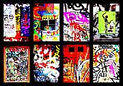 Barcelona Digital Art Framed Prints - Barcelona Doors ... All Graffiti Framed Print by Funkpix Photo Hunter