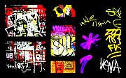 Funk Digital Art Prints - Barcelona Graffiti  Print by Funkpix Photo  Hunter