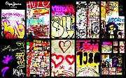 Barcelona Digital Art Posters - Barcelona Graffiti Wall  Poster by Funkpix Photo Hunter