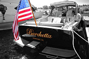 Bay Pyrography Prints - Barchetta Print by Russell Todd