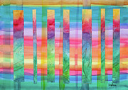 Events Painting Originals - Barcode for Balancing Chakras by Cheryl Irwin