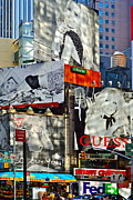 Billboard Signs Prints - Bardot at Times Square Print by Gwyn Newcombe