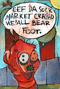 Stock Market Painting Posters - Bare Feet Poster by Charlie Spear