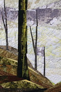 Quilts Tapestries - Textiles - Bare Trees by Linda Beach