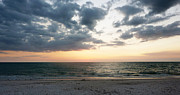 Winter Sunset Posters - Barefoot Beach Poster by Melanie Moraga