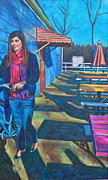 Perspective Paintings - Barefoot Ride-850 by Mirinda Reynolds