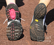 Running Shoe Posters - Barefoot Running Shoe And Normal Poster by Photo Researchers, Inc.