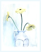 Pottery Pitcher Digital Art Prints - Barely There Print by Marsha Heiken