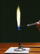 Bunsen Burner Prints - Barium Flame Test Print by Andrew Lambert Photography