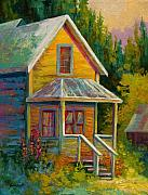 Old Houses Painting Acrylic Prints - Barkerville Orphan Acrylic Print by Marion Rose