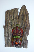 Wood Carving Reliefs - BarkFace by Douglas Fromm