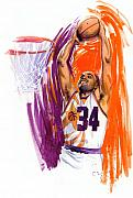 Basketball Painting Posters - Barkley Poster by Ken Meyer jr