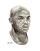 76ers Framed Prints - Barkley Framed Print by Tamir Barkan