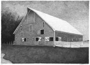 Pen And Ink Of Barn Art - Barn 11 by Joel Lueck