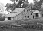 Old Barns Drawings Metal Prints - Barn 14 Metal Print by Joel Lueck