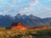 Grand Tetons Framed Prints - Barn 2 Framed Print by Vijay Sharon Govender