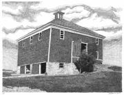 Barn Pen And Ink Drawings Prints - Barn 7 Print by Joel Lueck