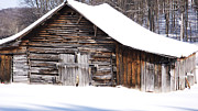 West Virginia Snow Scene Posters - Barn along Coon Creek Road Poster by Thomas R Fletcher