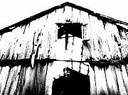 Rural Decay  Digital Art Metal Prints - Barn Metal Print by Amanda Barcon