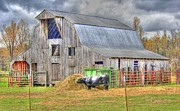 Hay Bale Photos - Barn and Cow tonemapped by Geary Barr
