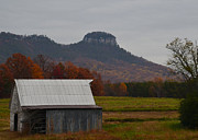 Paul Lyndon Phillips Photos - Barn and Pilot Mountain NC - 5100c2716c by Paul Lyndon Phillips